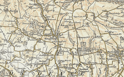 Old map of Kingston St Mary in 1898-1900