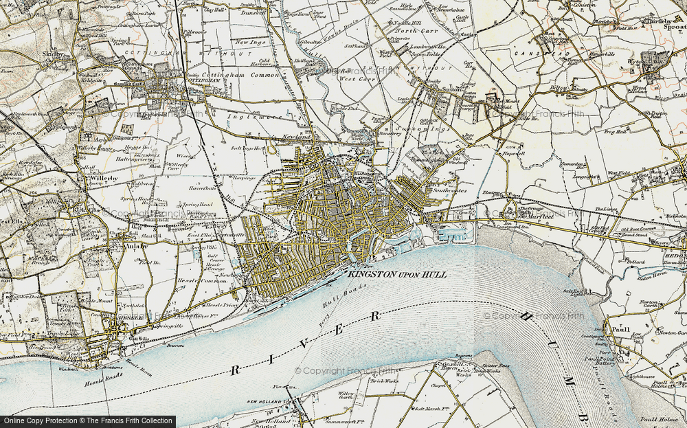 Map of Kingston upon Hull 19031908 Francis Frith