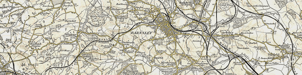 Old map of Kingstone in 1903
