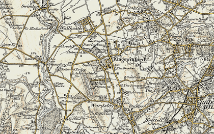 Old map of Ashwoodfield Ho in 1902