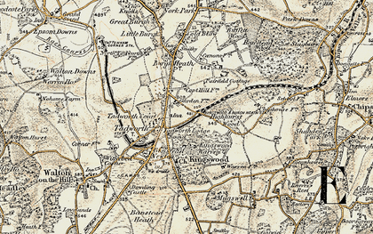 Old map of Kingswood in 1897-1909
