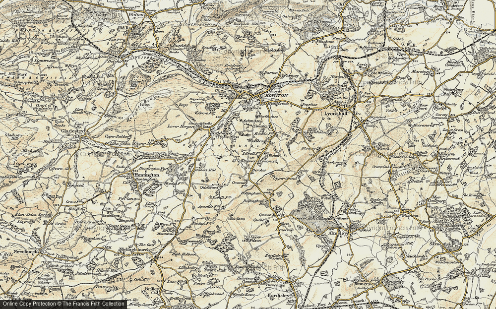 Old Map of Historic Map covering Woodbrook in 1900-1903