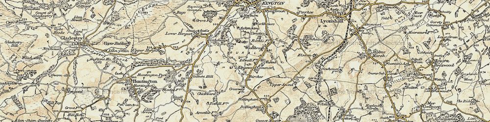 Old map of Woodbrook in 1900-1903
