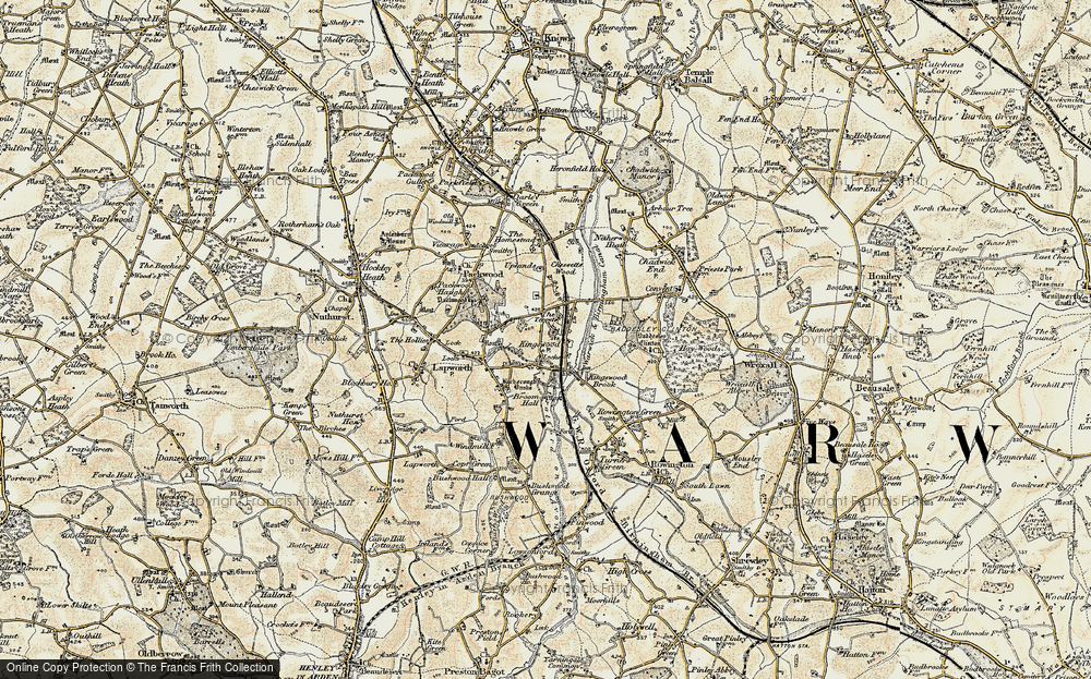 Old Map of Historic Map covering Lapworth Sta in 1901-1902