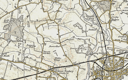 Old map of Kingswood in 1903