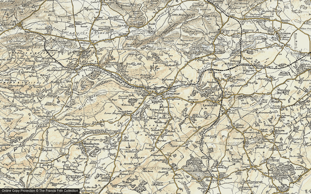 Old Map of Historic Map covering Ashmoor in 1900-1903