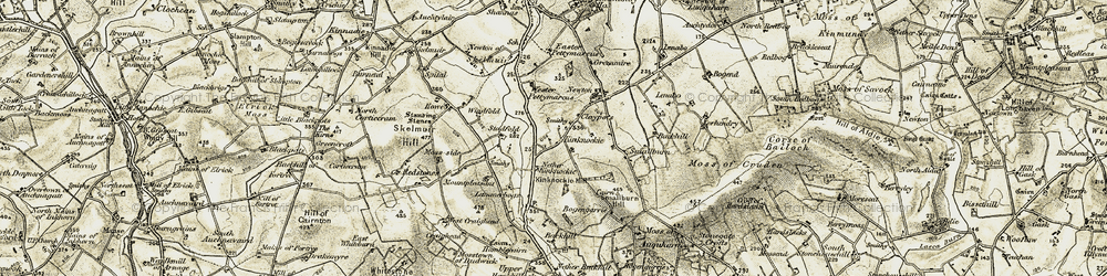 Old map of Windfold in 1909-1910