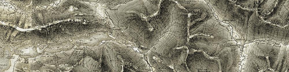 Old map of Allt Coire Sgoireadail in 1908