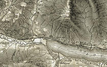 Old map of Abhainn Bheagaig in 1906-1908