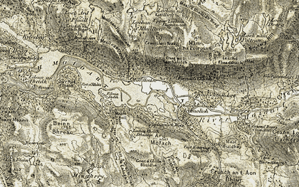 Old map of Àird Molach in 1908