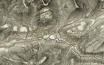 Old map of Allt Coire na Bà in 1906-1908