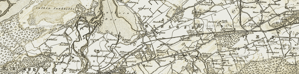 Old map of Woodhead in 1910-1911