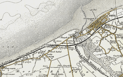 Old map of Kinmel Bay in 1902-1903