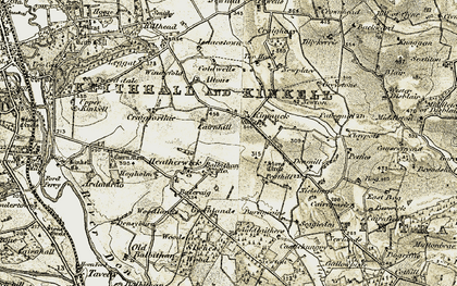 Old map of Ashlea Grange in 1909-1910