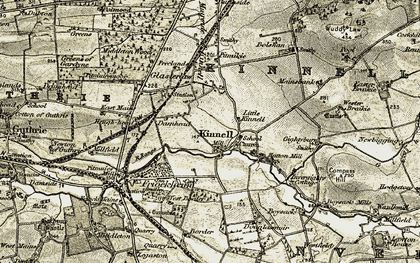 Old map of Wuddy Law in 1907-1908