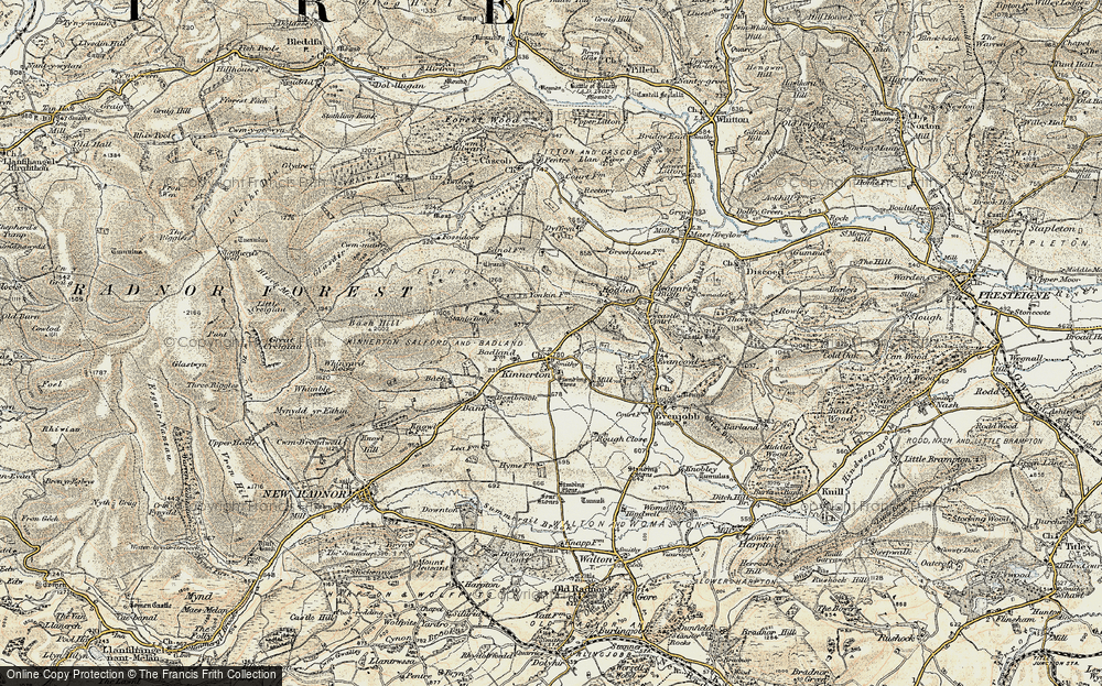 Old Map of Historic Map covering Bank in 1900-1903