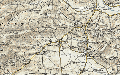 Old map of Bache Hill in 1900-1903