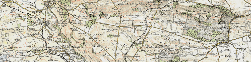 Old map of Woolly Hill in 1903-1904