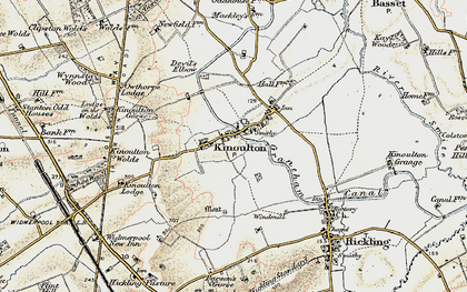 Old map of Woodlands in 1902-1903