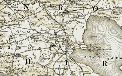 Old map of Kinross in 1903-1908