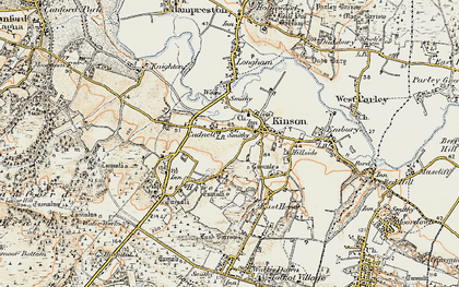 Old map of Kinson in 1897-1909