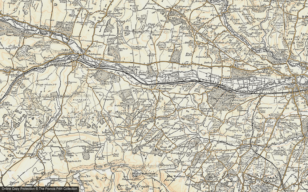 Old Map of Kintbury, 1897-1900 in 1897-1900