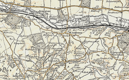 Old map of Kintbury in 1897-1900