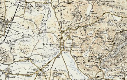 Old map of Leintwardine Manor in 1901-1903