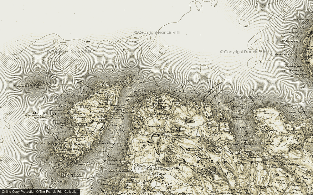 Old Map of Historic Map covering Bàgh Inbhir h-Aibhne in 1906-1907