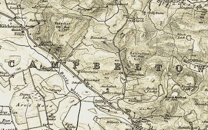 Old map of Achadh Beithe in 1905