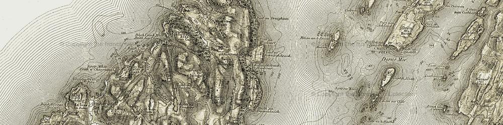 Old map of Àird of Kinuachdrachd in 1906-1907