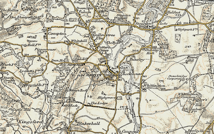 Old map of Kinver in 1901-1902