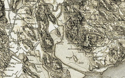 Old map of Auchenhill in 1904-1905