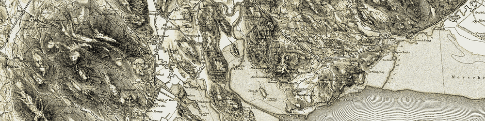 Old map of Almorness Ho in 1904-1905