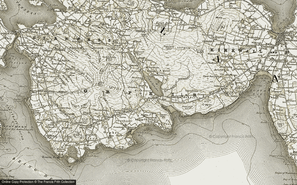 Old Map of Historic Map covering Akla in 1911-1912