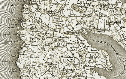 Old map of Langskaill in 1912