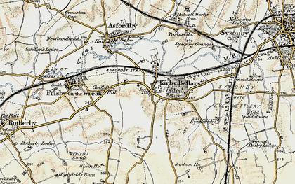 Old map of Kirby Bellars in 1901-1903