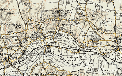 Old map of Leet Hill in 1901-1902