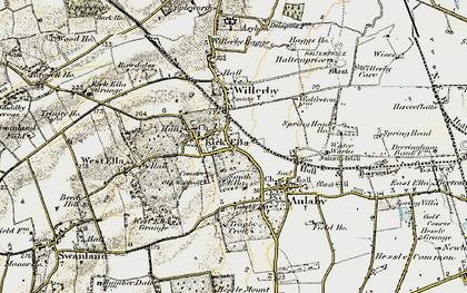 Old map of Kirk Ella in 1903-1908