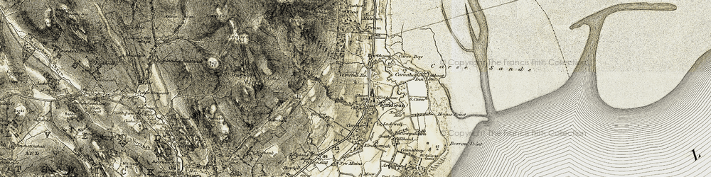 Old map of Carsethorn in 1901-1905