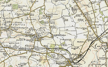 Old map of Langthorn Wood in 1904