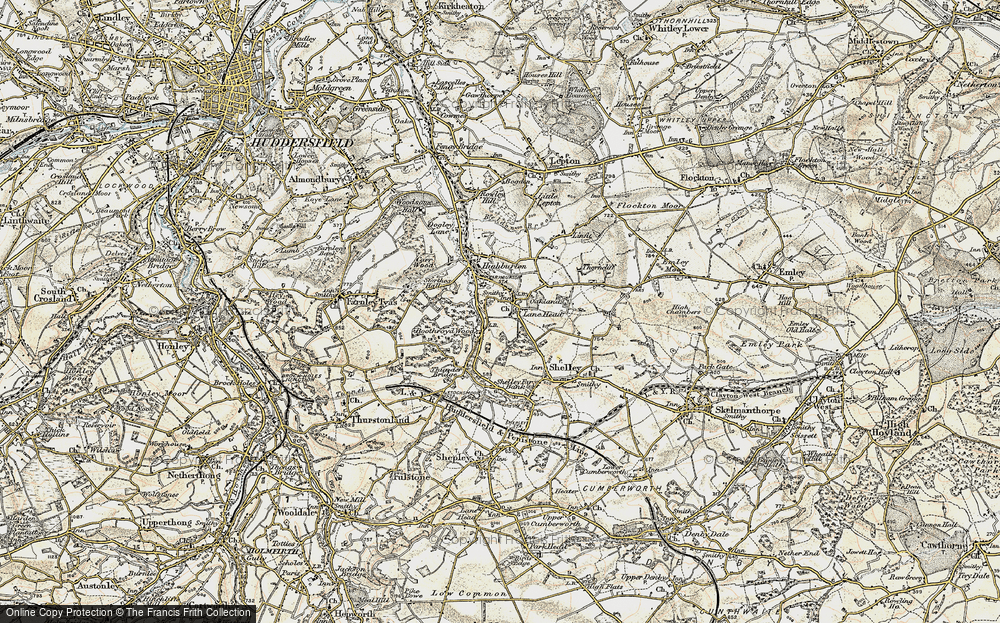 Old Map of Kirkburton, 1903 in 1903