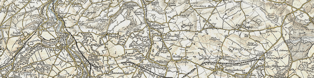 Old map of Kirkburton in 1903