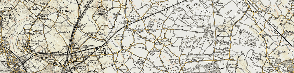 Old map of Kirkby in 1902-1903