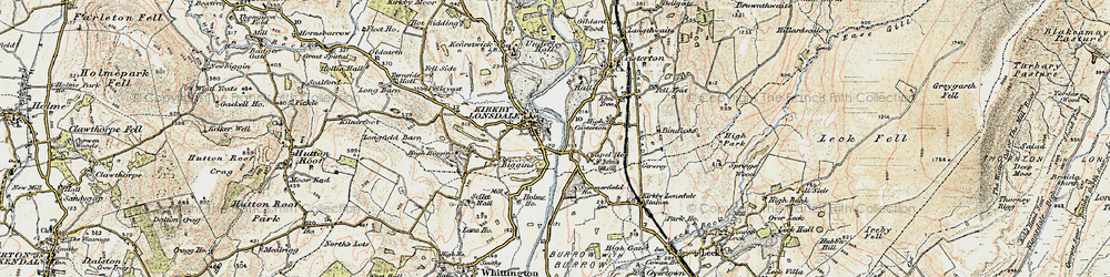 Old map of Kirkby Lonsdale in 1903-1904