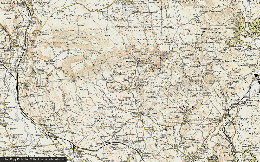 Old Map of Historic Map covering Accraplatts in 1903-1904