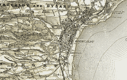 Old map of Kirkcaldy in 1903-1906