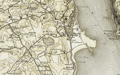 Old map of Balgown Moss in 1905