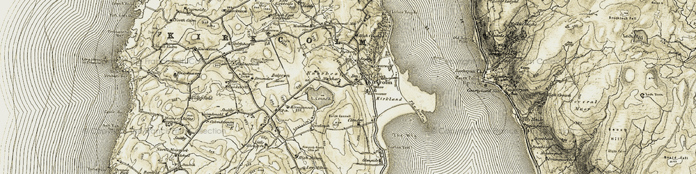Old map of Wig, The in 1905