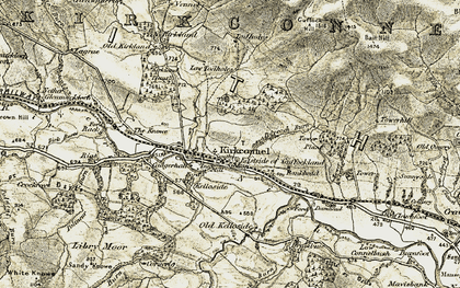 Old map of Kirkconnel in 1904-1905